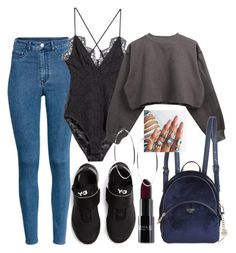 """Untitled #310"" by smahane ❤ liked on Polyvore featuring Y-3, H&M and GUESS"