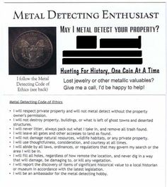 Contact Cards - Friendly Metal Detecting Forums