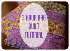 Rag Strip Quilt Tutorial- A great first quilt!