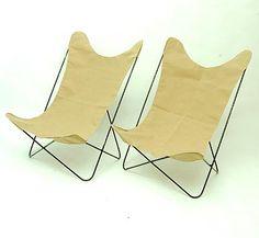 Chairs Butterfly No.198  design Jorge Ferrari-Hardoy Juan Kurchan Antonio Bonet 1938 execution