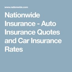 Nationwide Insurance Quote Car Insurance Uses A Credit Score  Tips And Advice On How To Get .