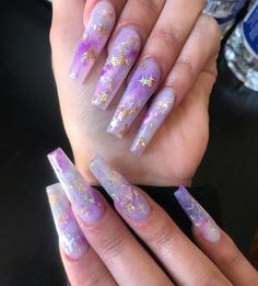 13 Mesmerizing Purple Nail Designs: Browse for More! Passing some time to select nail art from these great Purple Nail Designs will be the best use of your valuable time to increase your nail beauty. Purple Acrylic Nails, Summer Acrylic Nails, Best Acrylic Nails, Purple Nails, Coffin Nails Long, Long Nails, Long Stiletto Nails, Purple Nail Designs, Aycrlic Nails