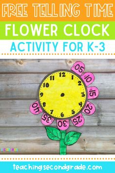 This 13 page FREEBIE includes templates to create this cute flower craft clock. What a wonderful way for your students to get hands-on practice telling time with an analog clock. Can be used in small groups, math centers, independent practice or guided math time! Perfect for kindergarten, first, second, or third grade students. #tellingtimeactivities #teachingtellingtime #clockactivities Second Grade Writing, Teaching Second Grade, 1st Grade Math, Third Grade, 2nd Grade Activities, Fun Activities For Kids, Classroom Activities, School Resources, Math Resources