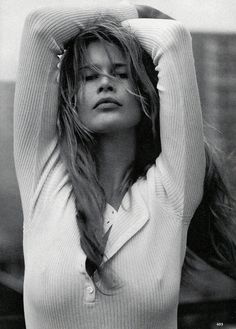 """Claudia Schiffer in """"Claudia Undone"""" by Steven Meisel for Vogue US April 1993"""