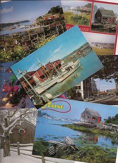 vintage Maine postcards