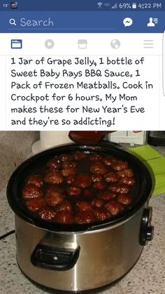 Make these all the time! Yummy over rice Meat Appetizers Appetizers Appetizers keto Appetizers parties Appetizers recipes Crockpot Dishes, Crock Pot Slow Cooker, Crock Pot Cooking, Slow Cooker Recipes, Crock Pots, Crockpot Ideas, Meat Recipes, Appetizer Recipes, Cooking Recipes