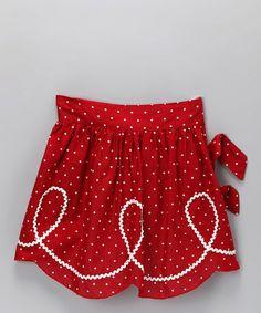Red & White Polka Dot Half Apron