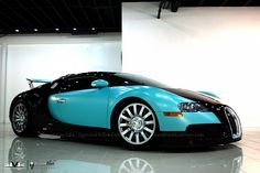 Bugatti Veyron in Tiffany Blue