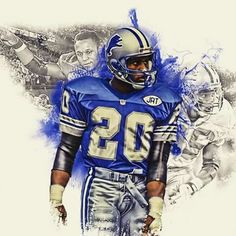 Barry Sanders is known by many as the most elusive running back of all time. Barry Sanders played ten years in the NFL with the Detroit Li. Nfl Football Helmets, Football Art, Football Memes, Sport Football, Sports Memes, Football Players, Jerseys Nfl, Nfl Memes, Arrow