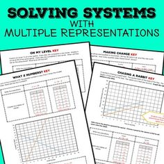 Give students practice solving systems using different methods and representations.  In each of the four tasks, students will interpret a given story and then create a system of equations, two tables of values, and a graph.  Finally, students solve the system algebraically.