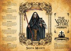 14-Day Candle Label - Santa Muerte (Black)