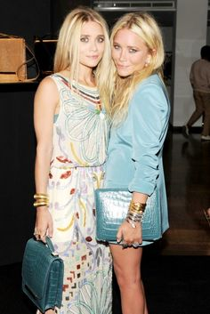 The Olsen twins in The Row at the unveiling for The Row's handbag collection at Barney's New York.