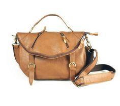 Women Leather Purse leather crossbody messenger by JoyandSurprise, $98.00