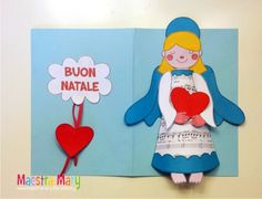 Un allegro biglietto/lavoretto con un simpatico angelo di Natale. #maestramary #bigliettidinatale #natalelavoretti #angelodinatale #nataleidee Tweety, Christmas Crafts, Crafts For Kids, Scrap, Angelo, Character, Art, Crafts For Children, Kids Arts And Crafts