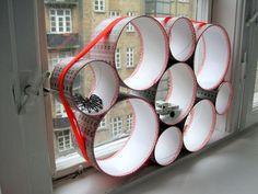 Tubular Storage by Maries Fabrik Small Storage, Diy Storage, Creative Storage, Stuffed Animal Displays, Stuffed Animals, Decorating Your Home, Diy Home Decor, Kids Decor, Decorating Ideas