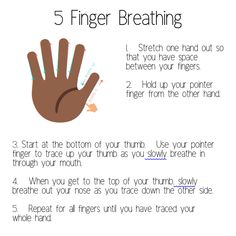 Five Finger Breathing Calming Technique for stress, anxiety, etc. feelings