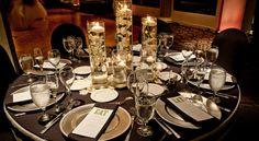 Braemar Country Club,. Tarzana CA Wedding Table, Beautiful Black & White Table