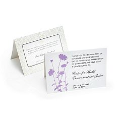 Instead of favors or other elements of the wedding, give to a charity of your choice. Use charity cards to explain.