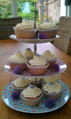 Elderflower jubilee cupcakes
