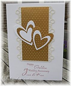wedding card Valscraftroom: An order of four. 50th Anniversary Cards, Golden Anniversary, Second Anniversary, Anniversary Quotes, Anniversary Ideas, Wedding Cards Handmade, Card Wedding, Wedding Stationery, Wedding Gifts