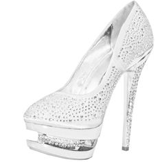 Save 10% + Free Shipping Offer * | Coupon Code: Pinterest10 Brand: Vigo Fiore Material: Rhinestone Over Satin Fabric Color: Silver Approximate Heel height: 6 inches with 1.5 inch platform approx retail price , Our price just Women's Liliana Irena-16 Silver Triple Platform Rhinestone Pumps