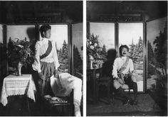 Figures 20 & 21. Erb's experiments in shooting portraits; this series features her sister, Uen. (N.d.).