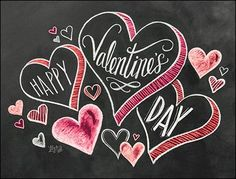 Happy Valentine's Day Hearts Cards