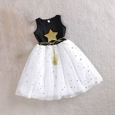 f16e1c9fd28ca xunqicls 3 10Y Baby Girls Sequins Dress Star Printed with Belt Sleeveless  Princess Party Kids Dresses -in Dresses from Mother   Kids on  Aliexpress.com ...