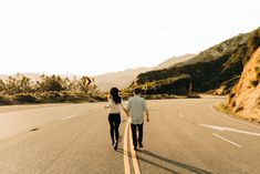 Couple running in street during engagement session is la forest. Rosarito Beach, Calistoga Ranch, Couple Running, Traditional Indian Wedding, Family Set, Sunset Wedding, White Horses, Sunset Photos, Photo Location