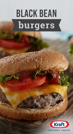 Black Bean Burgers – When hosting your summer BBQ, whip up a recipe everyone can enjoy—vegetarians included! This black bean pattie is sure to make appearances at grill-outs everywhere. Bean Recipes, Burger Recipes, Veggie Recipes, Whole Food Recipes, Vegetarian Recipes, Cooking Recipes, Healthy Recipes, Dishes Recipes, Healthy Meals