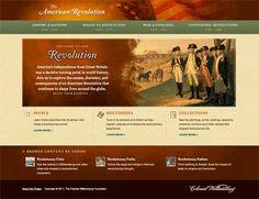 The American Revolution interactive website