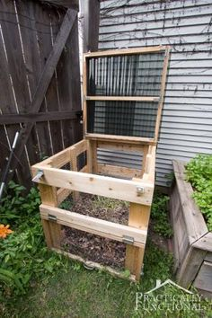 DIY Compost Bin - Featuring Practically Functional - Ana White
