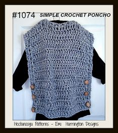 FREE CROCHET PATTERN, Simple and easy Crochet Poncho.