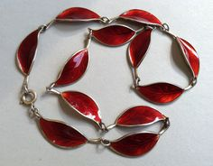 David Anderson Willy Winnaess Red Guilloche Enamel and Silver Necklace by Aged2PerfectionShop on Etsy https://www.etsy.com/listing/255661133/david-anderson-willy-winnaess-red