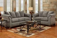 2 pc. 6700 Sensation Grey sofa and love seat. For more info. @Gail Regan Truax://www.mrfurniture.co/products/view/40/2-pc-6700-sensation-grey.html