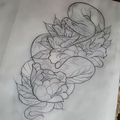 Design for tuesday, looking forward to this! #snake #peony #snaketattoo #snaketattoo #tattoo #tattooart #tattoodesign #tattoos #manchesterart #manchester #manchestertattoo #instaart #tattooflash #today #artcollective #artnerd #artwork #orientalart #neotrad #neotraditional