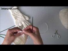 Как вязать перчатки. Вязание перчаток с узором спицами. Часть 1 - YouTube