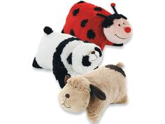 Pillow Pets $14.92 (puppy for C and ladybug for G)