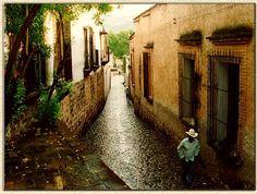 Estos son los Pueblos Mágicos de México. Alamos, Sonora. The brick, stone roadway, wrought iron, so beautiful.