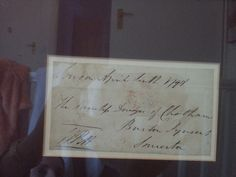 Letter cover addressed to his mother, signed by Pitt. Owned and photographed by Jacqui Reiter.