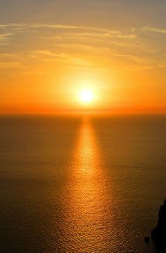 Sun going gown in Sunset Sea, Sunny Days, Travel Photos, Spain, Gown, Celestial, Outdoor, History, Landscapes
