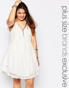 Alice+&+You+Cami+Layered+Swing+Dress+With+Crochet+Inserts