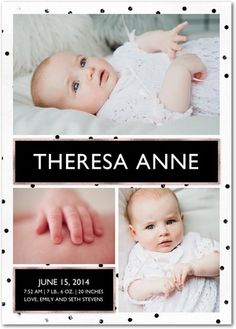 Dandy Darling - Girl Photo Birth Announcements - Magnolia Press - Tea Rose Pink #baby