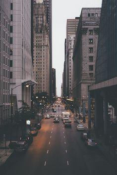 New York au lever du jour #rues #ville #newyork #nyc #streets #city #lights #building #morning #night