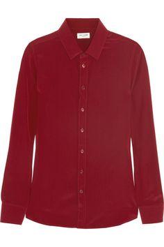 Saint Laurent|Silk crepe de chine shirt |NET-A-PORTER.COM