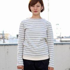 画像4: BSQボーダー度詰天竺ボートネックレイヤードカットソー [Lady's]【MADE IN JAPAN】『日本製』【一部予約・9月上旬頃入荷予定】 / Upscape Audience