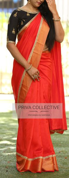 PV 3620 : Red and Black. Price : 3900Rs. Lets get back the classic combination this season. Red soft flowy silk saree. 24 January 2018