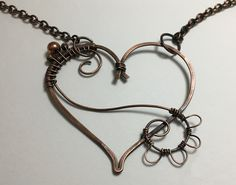 Copper heart necklace | JewelryLessons.com