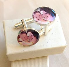 Cuff Links Customized with Your Photo  by BlueCornerCreasigns