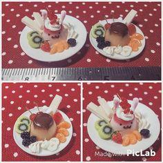 Miniaturefood  각종 과일과 생크림을 곁들인 푸딩 한입 한 입 드십시다  #미니어쳐#미니어쳐음식 #푸딩#클레이#Miniature #miniatures #miniaturefood#clay #fakesweets #fakefood #dollhouse #clayfood  #pudding